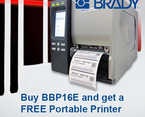 Buy Brady BBP16E and get a free portable printer